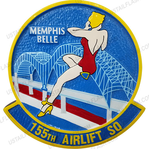 Memphis 155th Airlift Squadron Patch Emblem