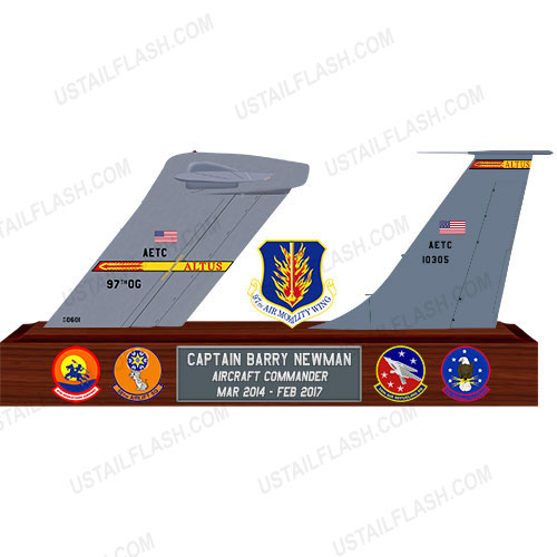 C17 and KC135 Double Tail Flashes Plaques Altus