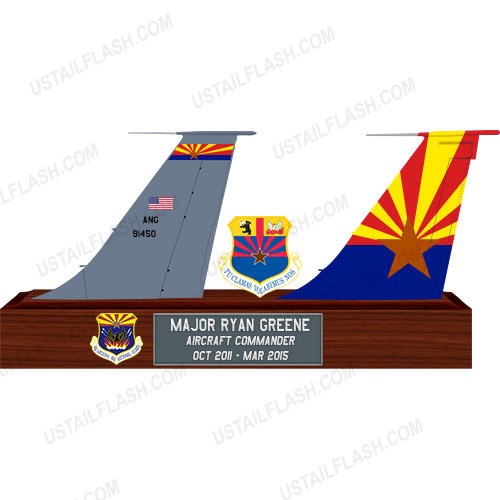 KC135 Double Tail Flashes Plaques 197ARS Goldwater