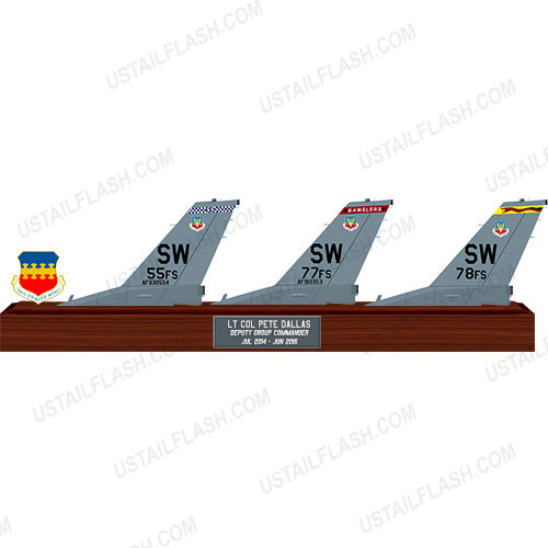 F16 Triple Tail Flashes Plaques 55FS/77FS/78FS Shaw